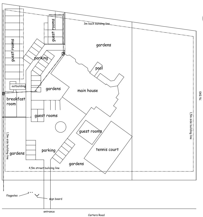 Layout of Carters Rest Guesthouse